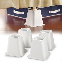 #1 Best Selling Simplify - 4-Count 6 inch Bed Riser With Whe