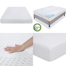 "Best Choice Products 10"" Dual Layered Gel Memory Foam Mattre"