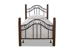 Hillsdale Furniture 1010BTWR Madison Bed Set with Rails, Twi