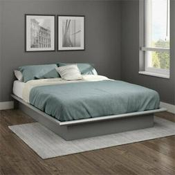 South Shore 10439 Step One Full Platform Bed , Soft Gray