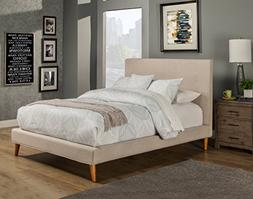 Alpine Furniture 1096CK Britney Bed, California King, Gray