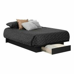 South Shore 11293 Holland Platform Bed , Full/Queen, Black O