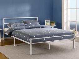 "Zinus Geraldine 12"" Metal Platform Bed Frame with Headboard"