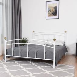 """12"""" Metal Bed Frame Platform Slat W Headboard Bedroom Home"""