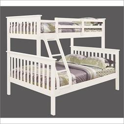 Donco Kids 122-3-TFW Mission Bunk Bed, Twin/Full, White