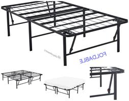 Mainstays 14 High Profile Foldable Steel Bed Frame Durable P