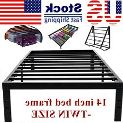 14 Inch Bed Frame-Twin Bedroom Metal Bed Frame Platform Base