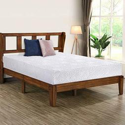 Olee Sleep 14 Inch Deluxe Wood Platform Bed with Headboard,W