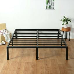 SLEEPLACE 14 inch Tall Metal Frame & Slat Foundation Bed Fra