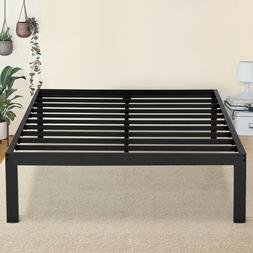 SLEEPLACE 16 Inch Tall Steel Bed Frame Black Twin Twin XL Fu