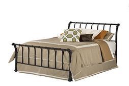 Hillsdale Janis Metal Sleigh Bed in Black-Queen