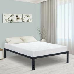 18 Inch Steel Slat Bed Frame Platform Mattress Foundation No