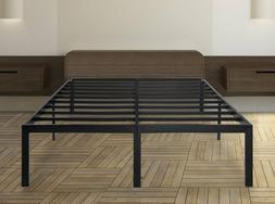 Olee Sleep 18 Inch Tall Heavy Duty Steel Slat Bed Frame T-30
