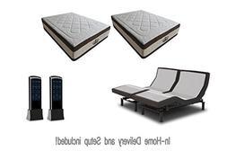 New! 2018 PRODIGY Adjustable bed Sleep Systems with Gel Matt