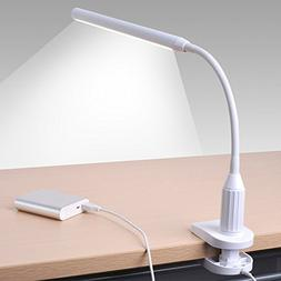 24 LED Clip on Light, Sunix Dimmable Reading Lamp, Flexible
