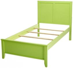 247SHOPATHOME IDF-7941GR-T Childrens-Bed-Frames, Twin, Green