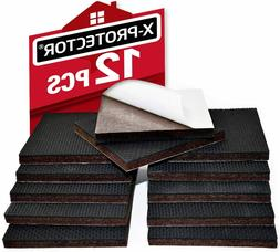 "X-PROTECTOR 12 pcs 3"" Rubber QUALITY Furniture Pads For Ha"