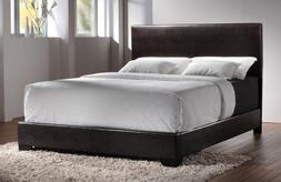 Coaster 300261Q Upholstered Queen Bed In Dark Brown Faux Fau