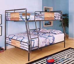 Acme Furniture 37725 Brantley Bunk Bed, Sandy Black and Dark