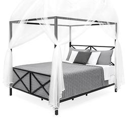 Best Choice Products 4-Corner 98in Decorative Canopy Drape M