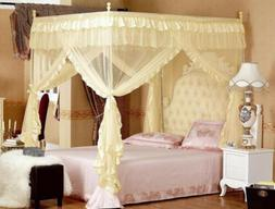4 Corner Post Bed Canopy Mosquito King Queen Twin Sizes Nett