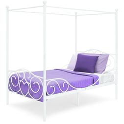 Best Choice Products 4 Post Metal Canopy Twin Bed Frame w/ H
