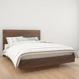 Nexera 400888  Queen Size Platform Bed Bundle , Walnut NEW