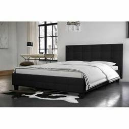 DHP Rose Linen Tufted Upholstered Platform Bed, Button Tufte