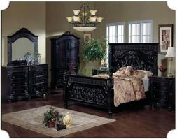 Ashley Furniture 5-Piece King Size Black Bedroom Furniture S