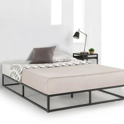 Metal Platform Bed Frame Wooden Slat Support Mattress Founda