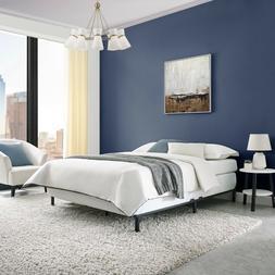 """7"""" Adjustable Bed Frame, Black Steel, Adjusts Twin - King"""