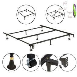 Kings Brand Furniture 7-Leg Adjustable Metal Bed Frame With