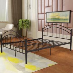 "84"" x 64"" x42"" Queen Size Bedroom Folding Steel Bed Frame 10"