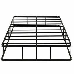 Bedroom 9 Inch Low Profile Bed Frame Steel Slat Mattress Fou