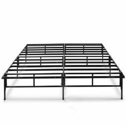 Bed Frame Platform Mattress Metal Foundation King Size Box S