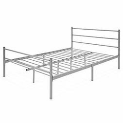 Best Choice Products Full Size Metal Bed Frame Platform w/He