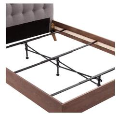 Black Adjustable Steel Bed Frames Center Support System Heav
