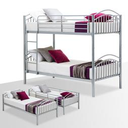 Bunk Bed Frame Convertible Twin Over Twin Metal Frames / 2 T