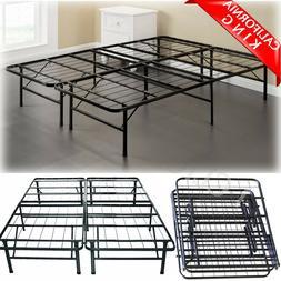 CALIFORNIA KING Size Metal Platform Bed Frame Heavy Mattress