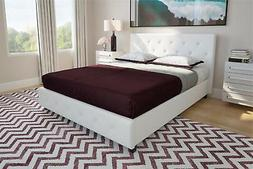 DHP Dakota Upholstered Faux Leather Platform Bed with Wooden