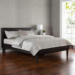 Zinus Jade Leather Upholstered Platform Bed with Wooden Slat