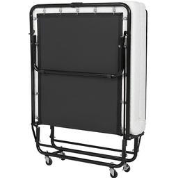 Folding Rollaway Guest Bed Cot Memory Foam Mattress Portable