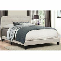 Hillsdale Furniture Nicole Fog Fabric Wood King Bed Frame wi