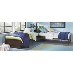 Hillsdale Pulse L-Shape Bed, Chocolate