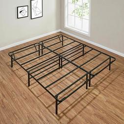 King Size Platform Bed Frame 14 Inch Mattress Steel Foundati