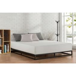 King Size Metal Platform Bed Frame With Wood Slats Bedroom M