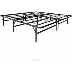 LUCID Foldable Metal Platform Bed Frame and Mattress Foundat