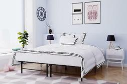 Metal Platform Bed Frame Folding Mattress Foundation CAL KIN