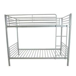 Metal Twin over Bunk Beds Frame Ladder Bedroom Dorm for Chil