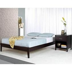 Modus Furniture Nevis Simple Platform Bed, Espresso, Califor